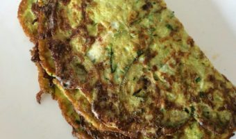 Courgette omelet
