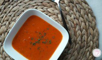 Rode paprika soep