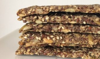 Glutenvrije lijnzaad crackers
