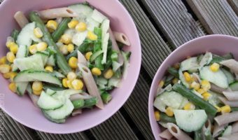 Frisse salade met sperziebonen
