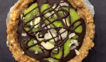 Kiwi taartje met amandelen