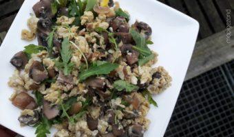 roerei, champignons, champignons roerei, vegettarisch, veggies