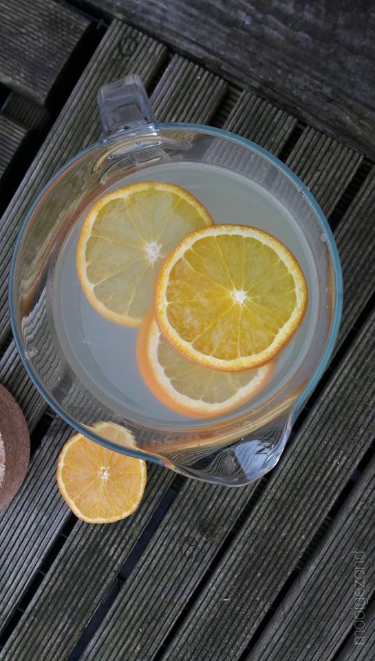 gember, limonade, citroen, sinaasappel, zonder suiker