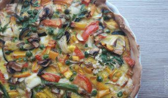 vegetarische quiche, vega quiche, groente, veggies, geitenkaas,